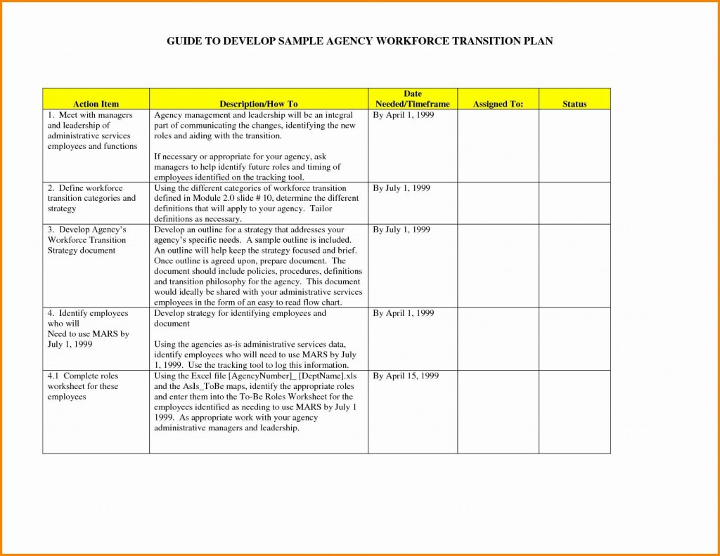 000 Awful Employee Transition Plan Template Example  For Leaving Job Excel Word InternalLarge