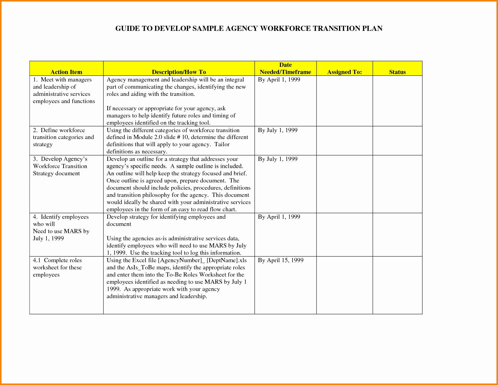 000 Awful Employee Transition Plan Template Example  For Leaving Job Excel Word InternalFull