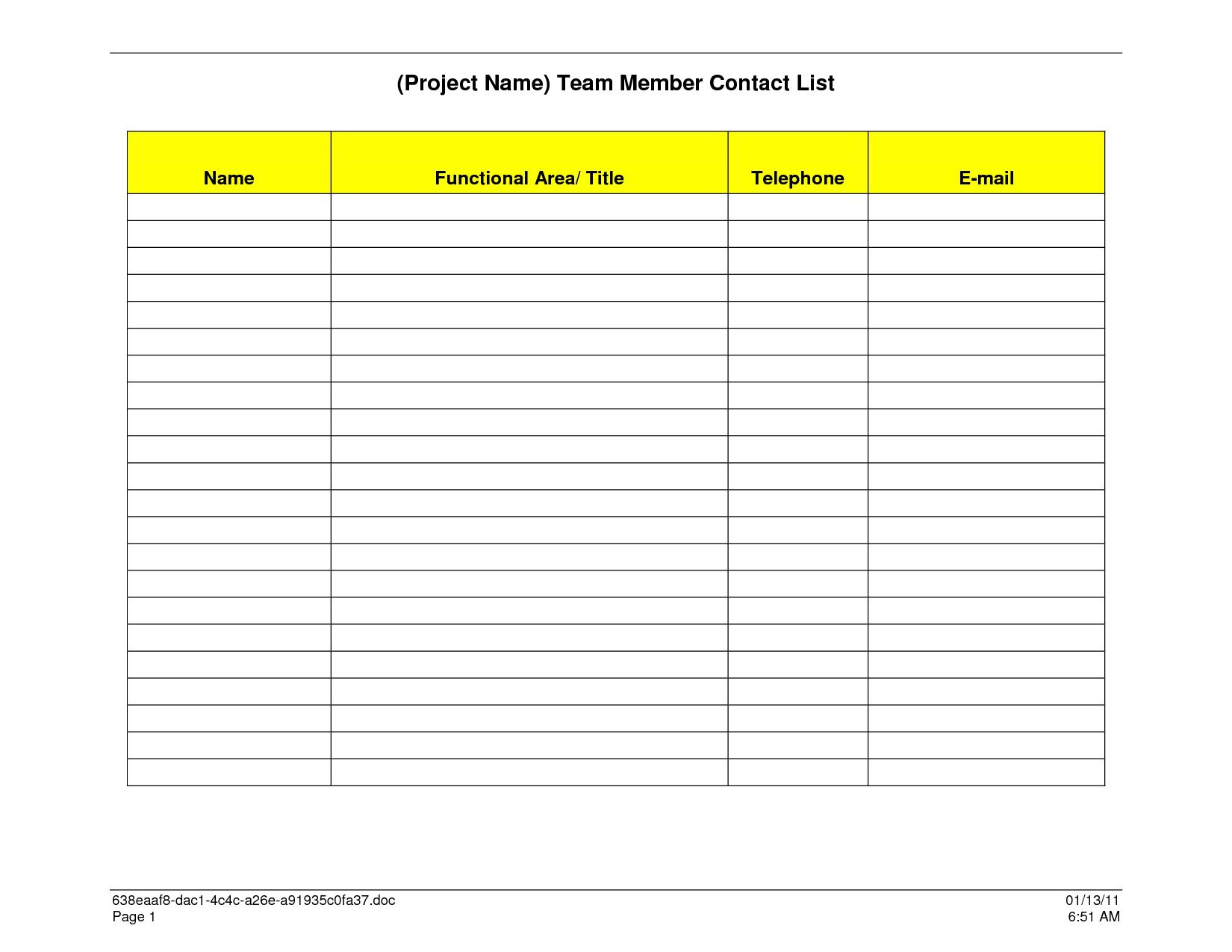 000 Awful Excel Contact List Template Example  Phone Download Spreadsheet TelephoneFull