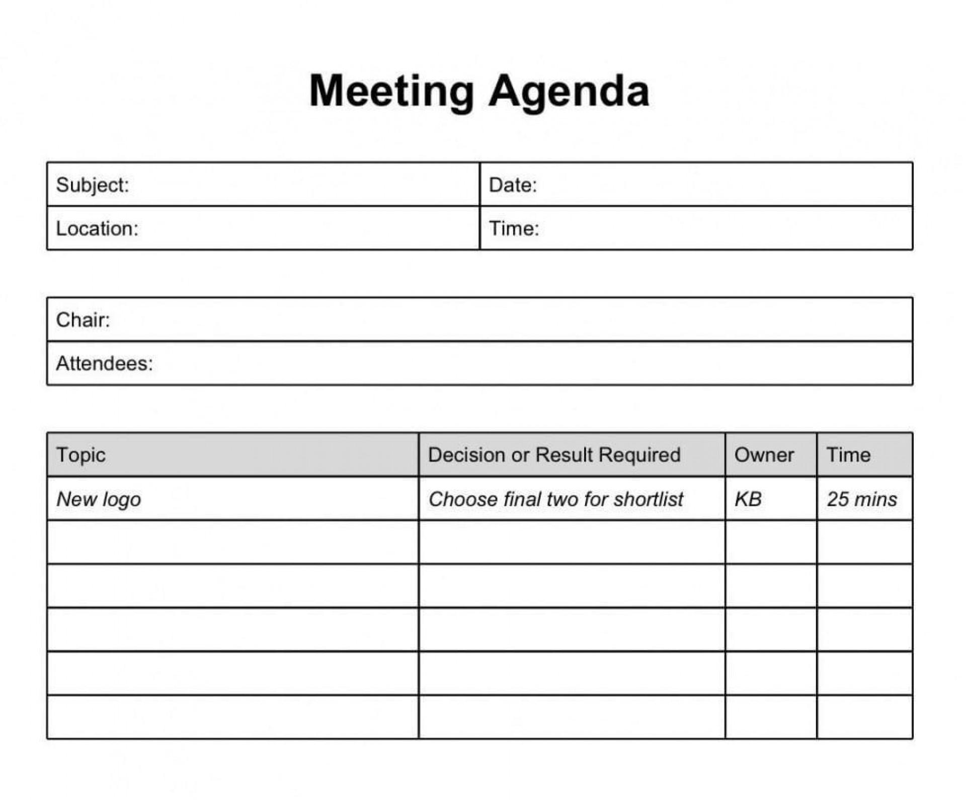 000 Awful Formal Meeting Agenda Example  Template Free Sample1920