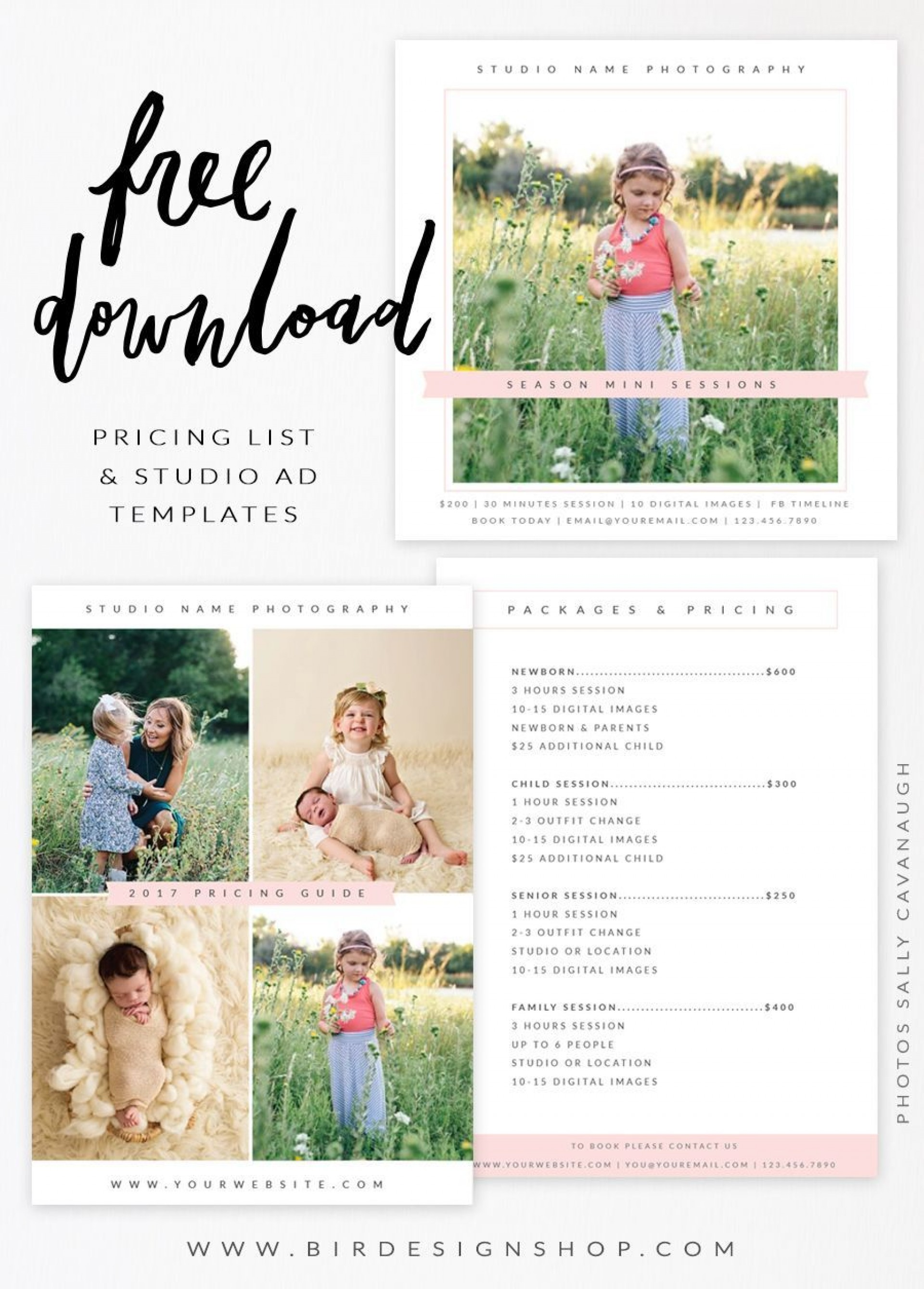 000 Awful Free Photography Package Template Idea  Pricing1920