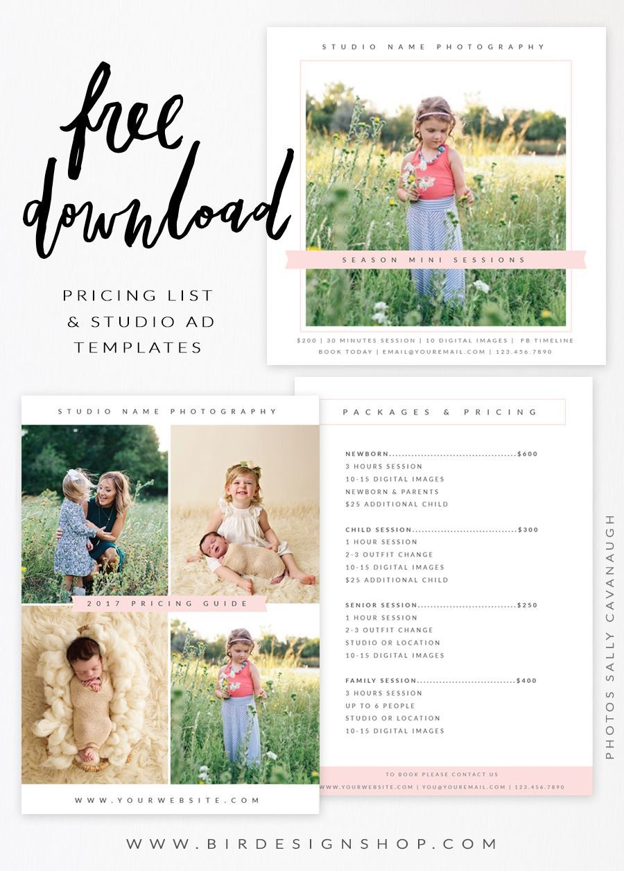 000 Awful Free Photography Package Template Idea  PricingFull