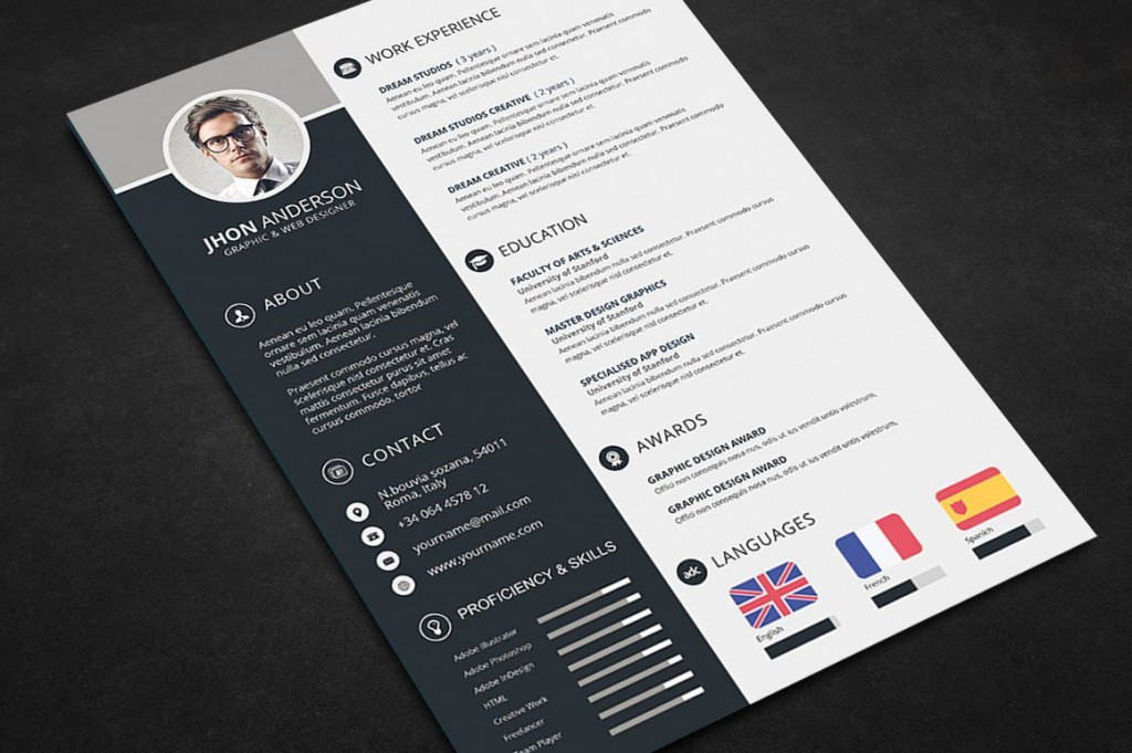 000 Awful Free Psd Resume Template High Def  Templates Attractive Download Creative (psd Id) Curriculum VitaeLarge