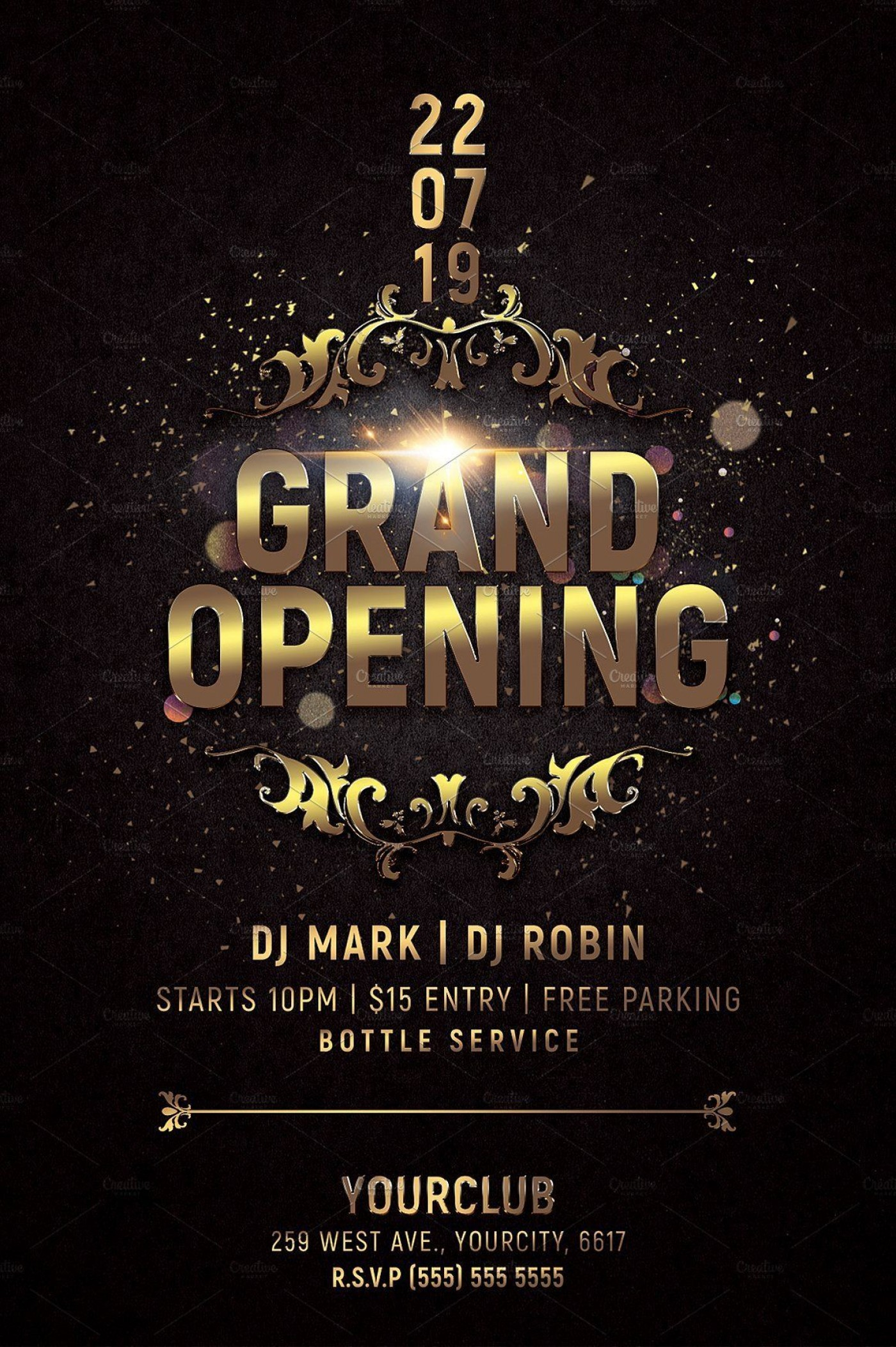 000 Awful Grand Opening Flyer Template Photo  Free Psd Busines1400