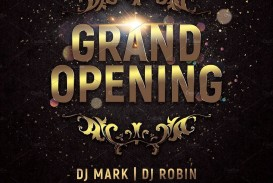 000 Awful Grand Opening Flyer Template Photo  Free Psd Busines