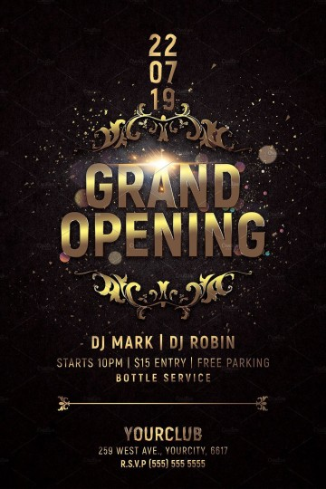 000 Awful Grand Opening Flyer Template Photo  Free Psd Busines360