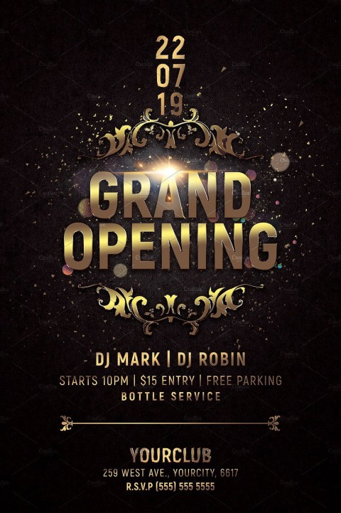 000 Awful Grand Opening Flyer Template Photo  Free Psd Busines480