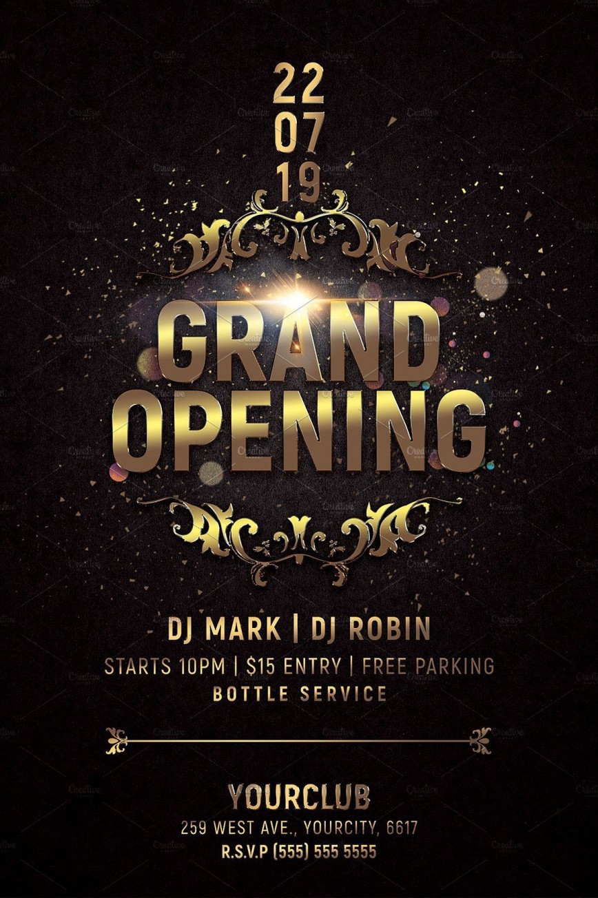 000 Awful Grand Opening Flyer Template Photo  Free Psd Busines868