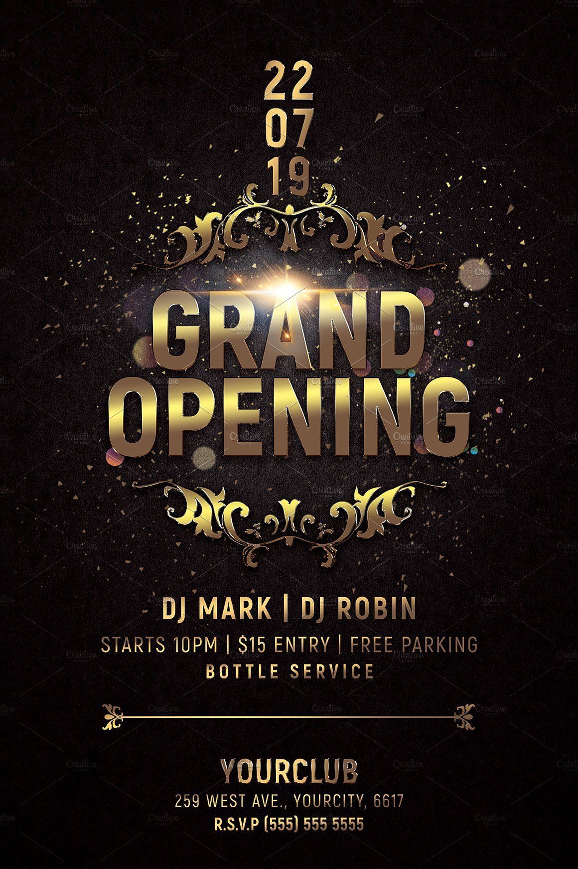 000 Awful Grand Opening Flyer Template Photo  Free Psd BusinesFull