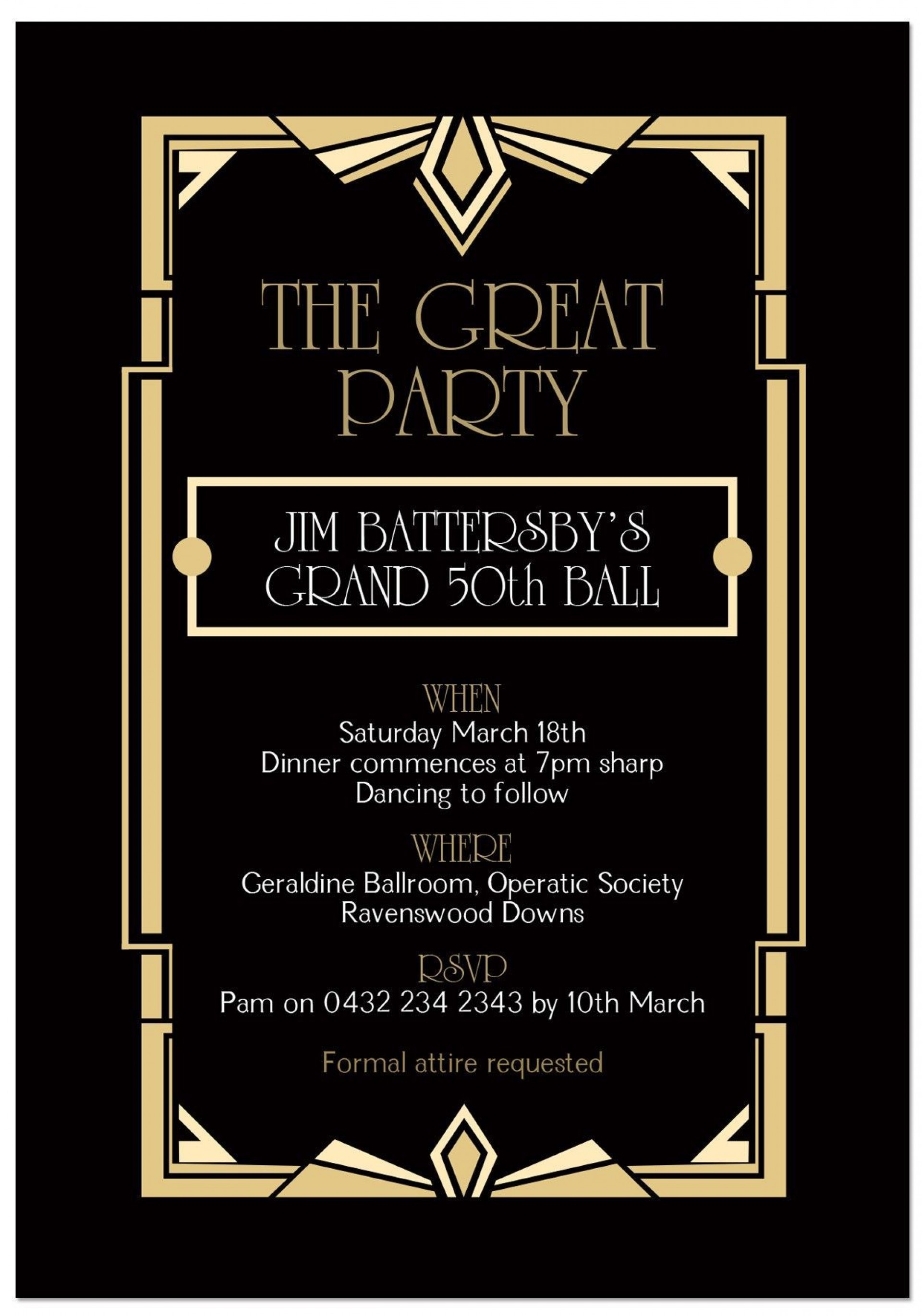 000 Awful Great Gatsby Invitation Template Highest Quality  Templates Free Download Blank1920