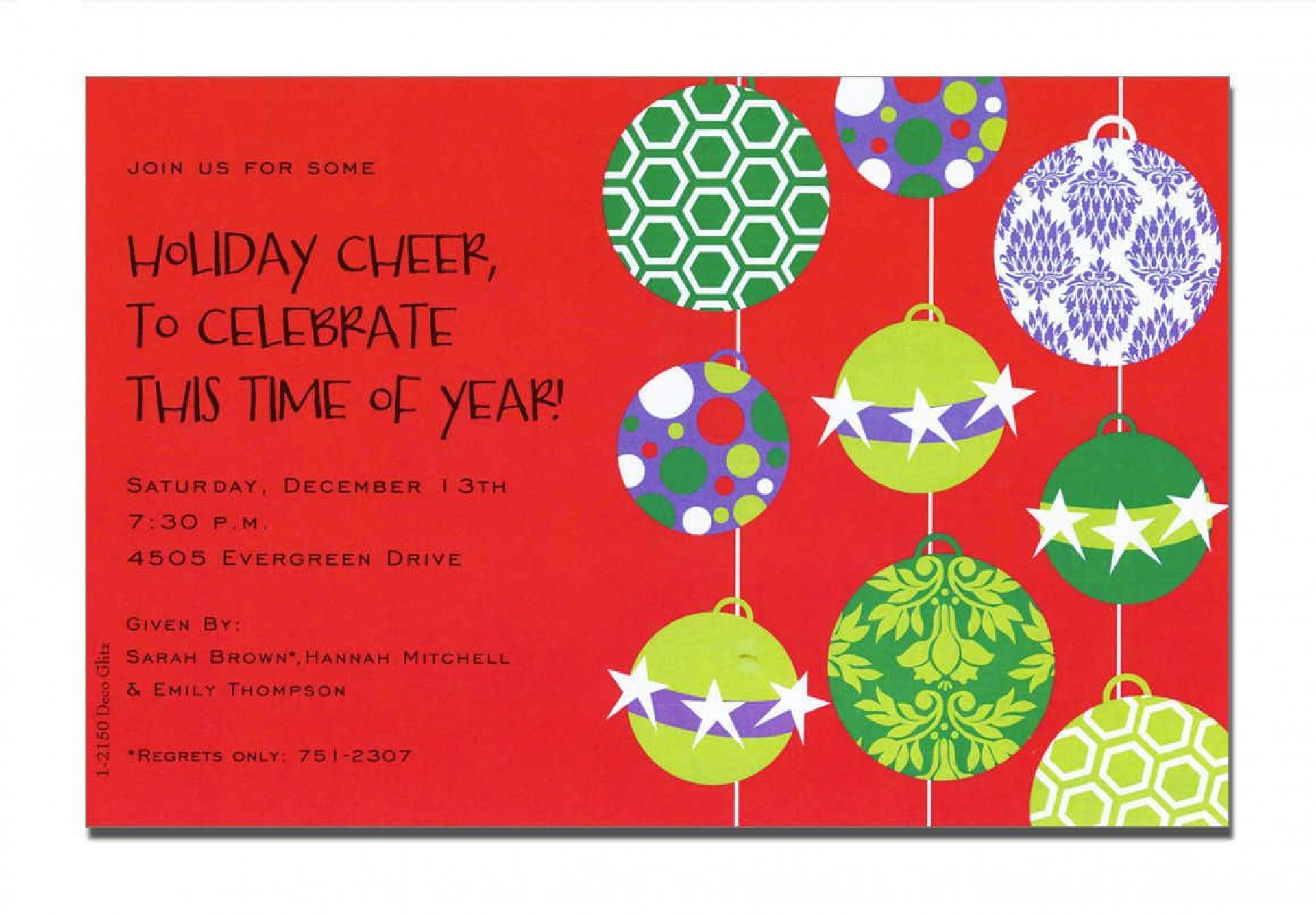 000 Awful Holiday Open House Invitation Template Design  Christma Free Printable Wording Idea1920