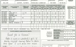 000 Awful Homeschool Middle School Report Card Template Photo  8th Grade Transcript