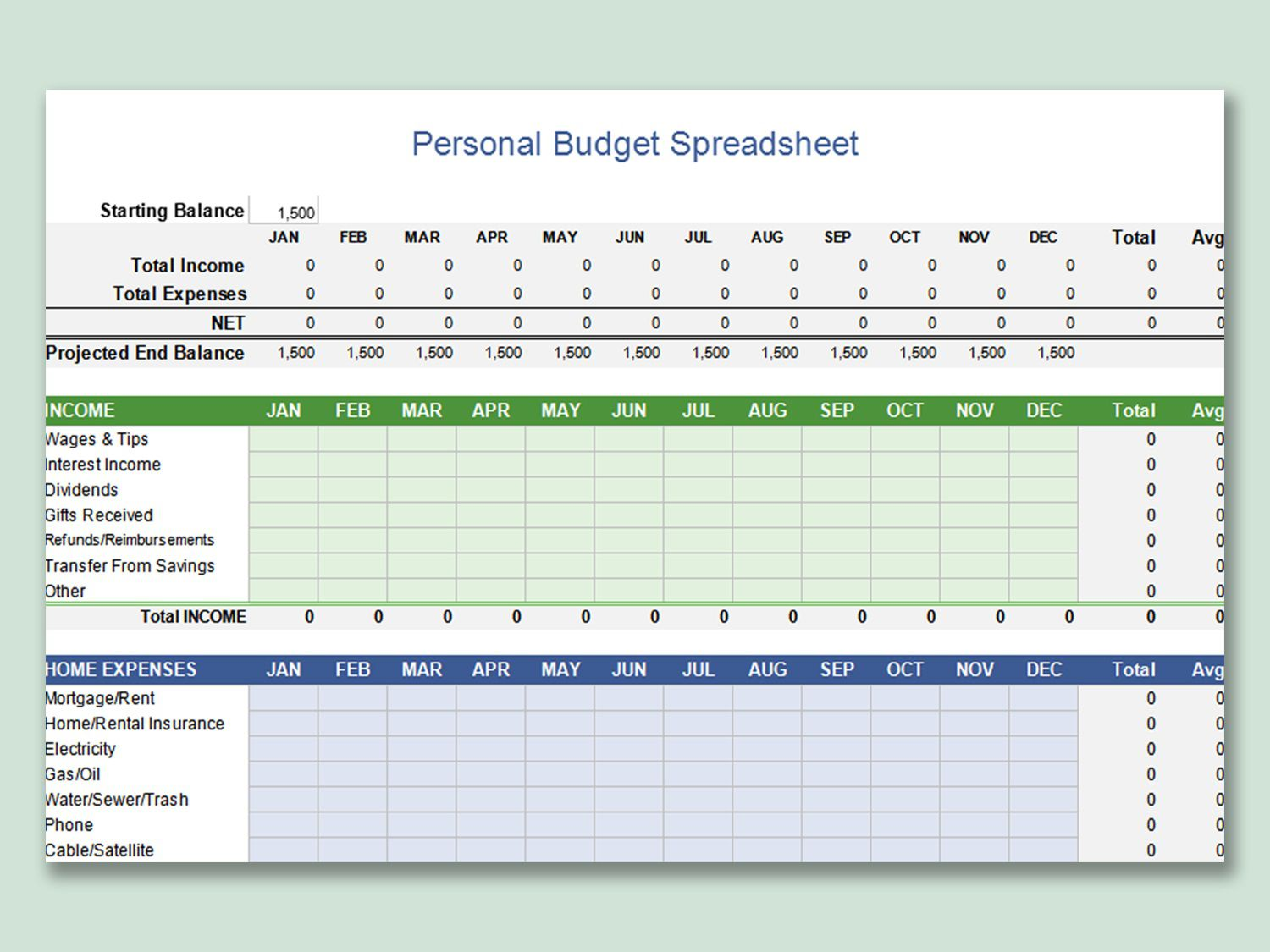 000 Awful Personal Budget Spreadsheet Template For Mac Idea Full