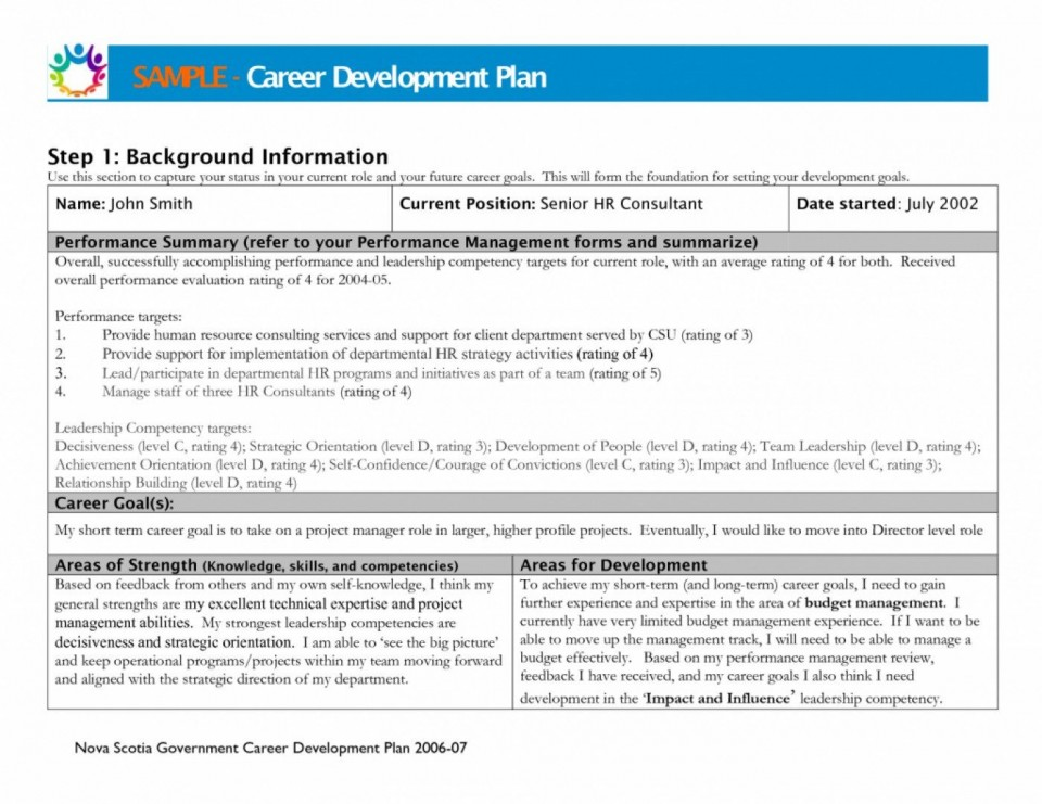 000 Awful Professional Development Plan Template For Employee Idea  Example Sample960