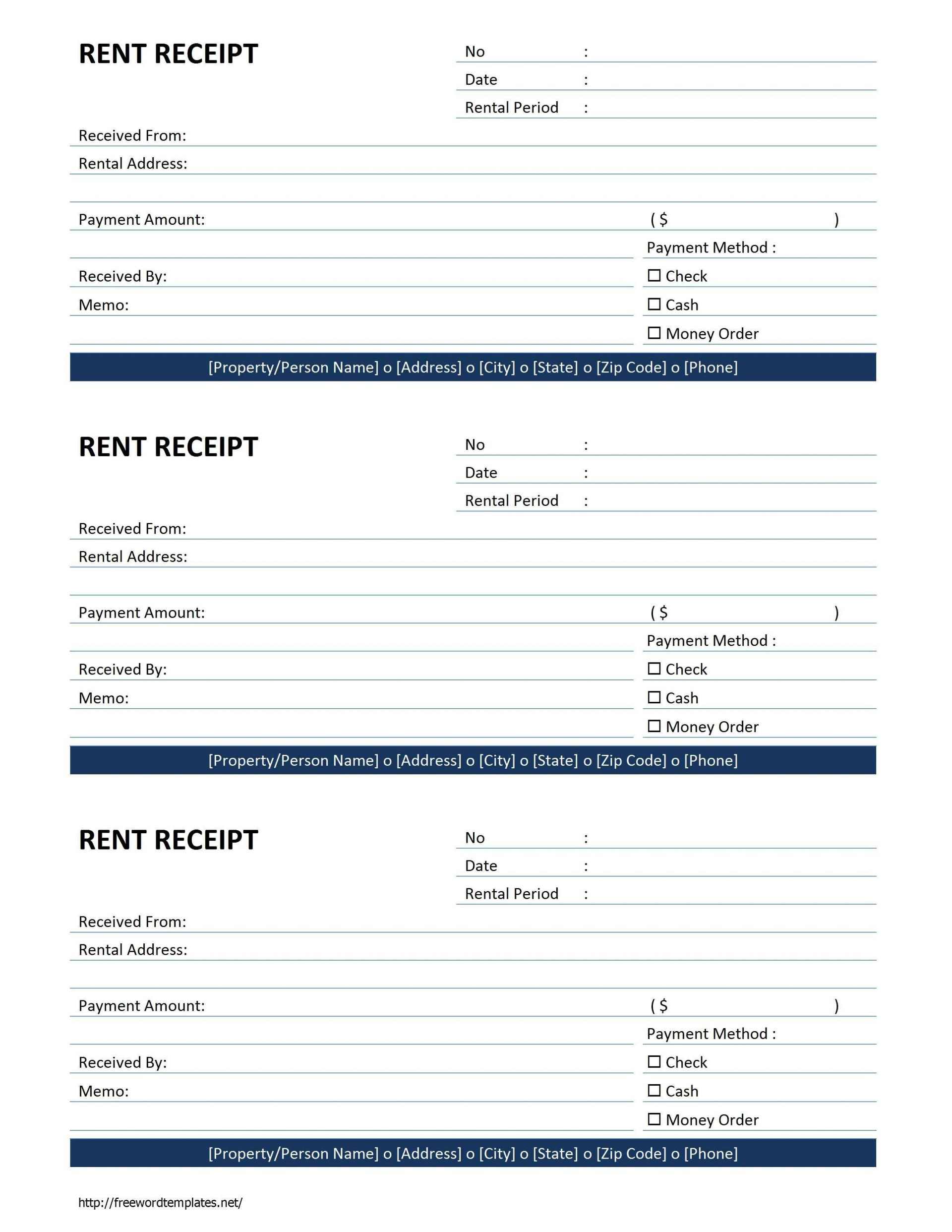 000 Awful Sample Rent Receipt Word Doc Design 1920