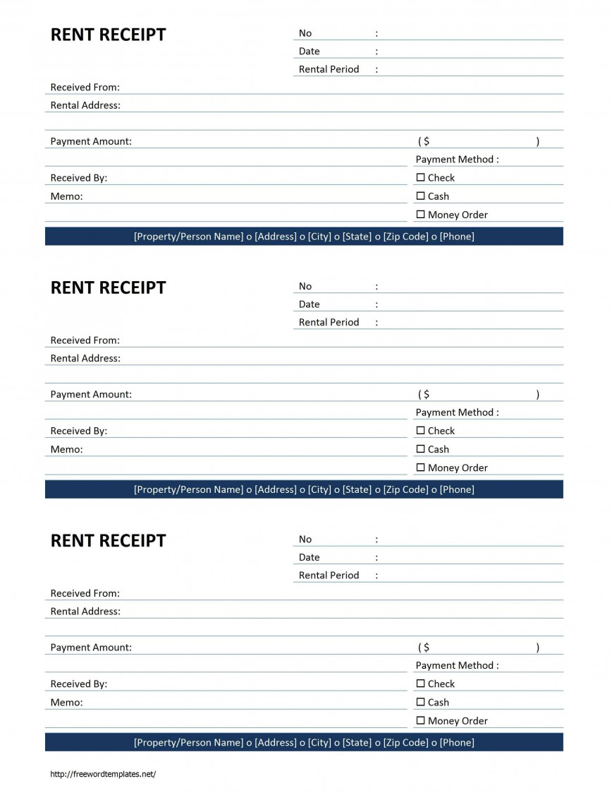 000 Awful Sample Rent Receipt Word Doc Design