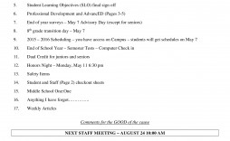 000 Awful Staff Meeting Agenda Template Sample  Example Format