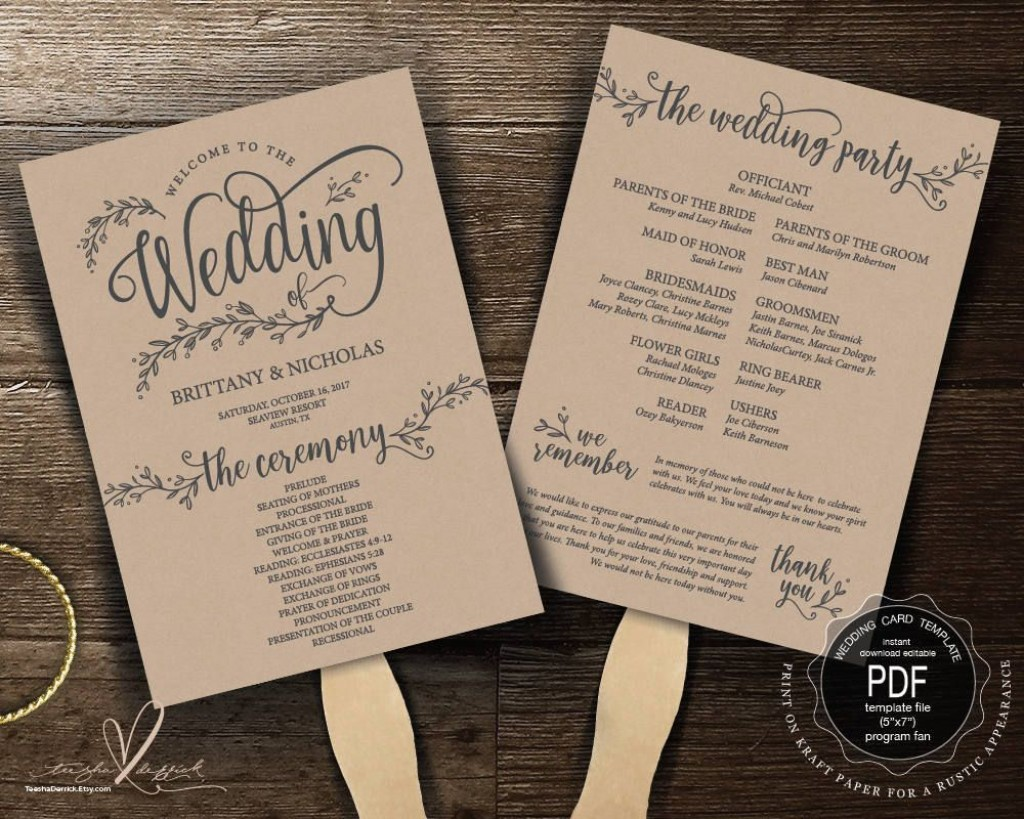 000 Awful Wedding Order Of Service Template Pdf High Resolution Large