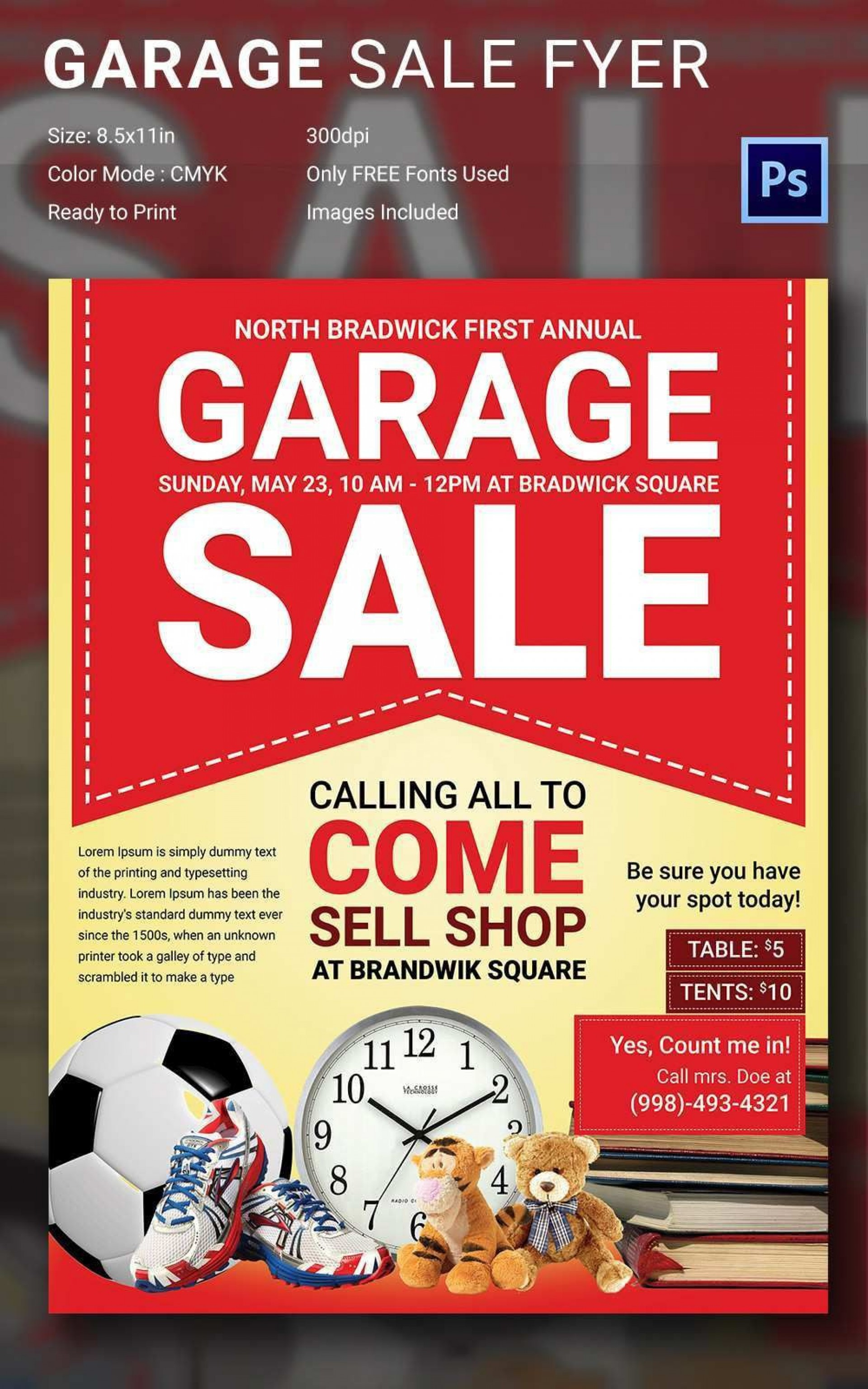 000 Awful Yard Sale Flyer Template Free Picture  Community Garage1920