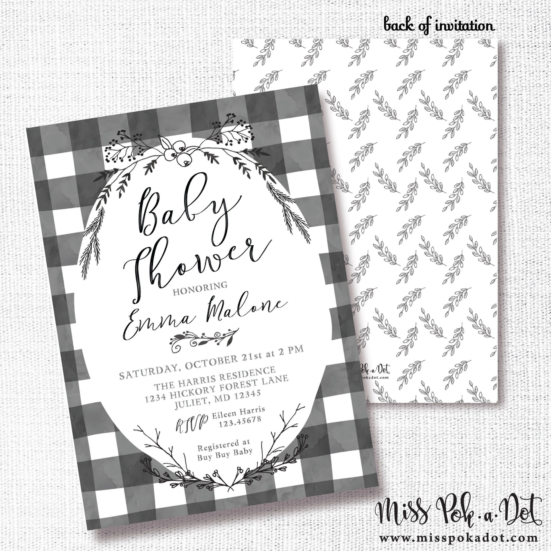 000 Beautiful Baby Shower Card Printable Black And White Idea 1920