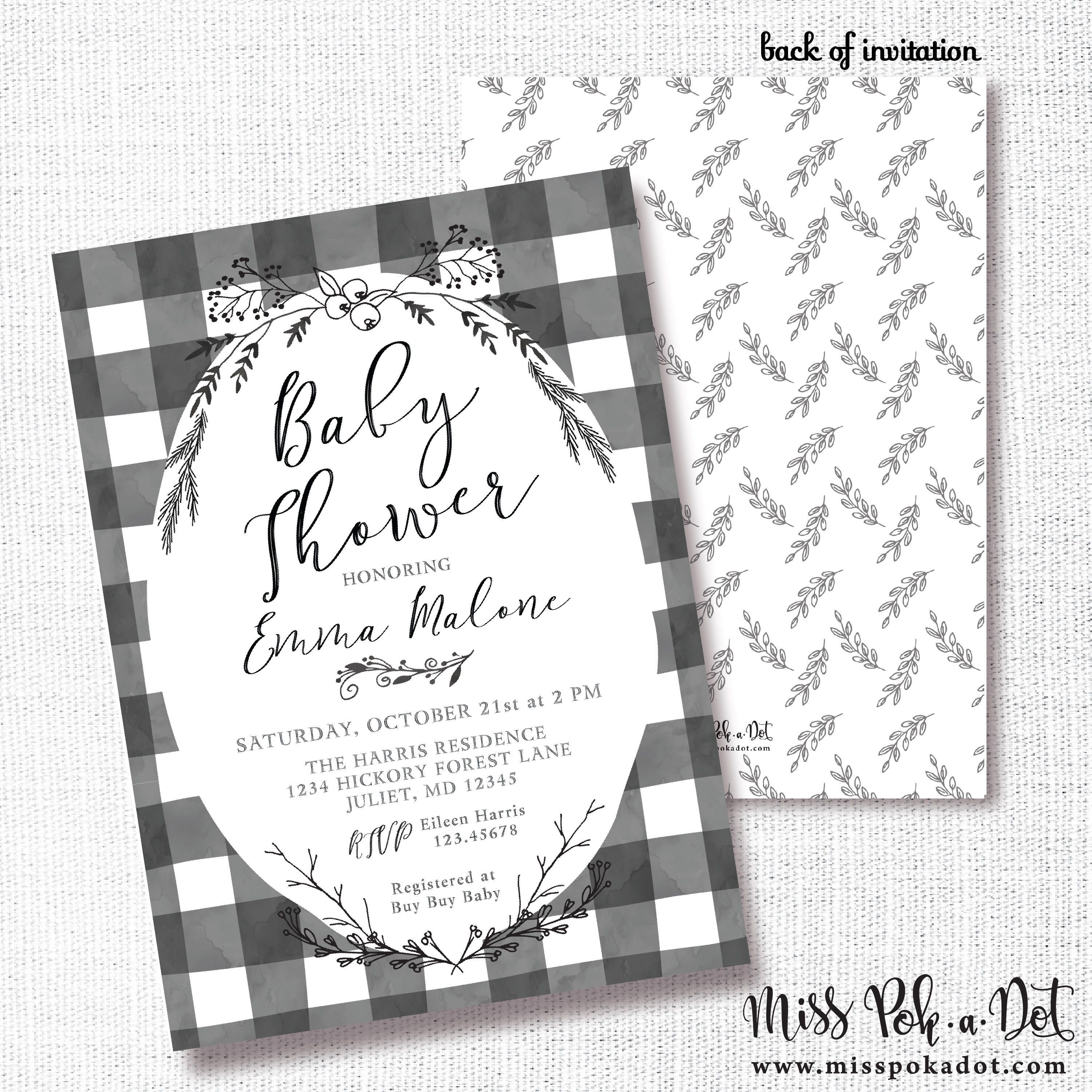 000 Beautiful Baby Shower Card Printable Black And White Idea Full