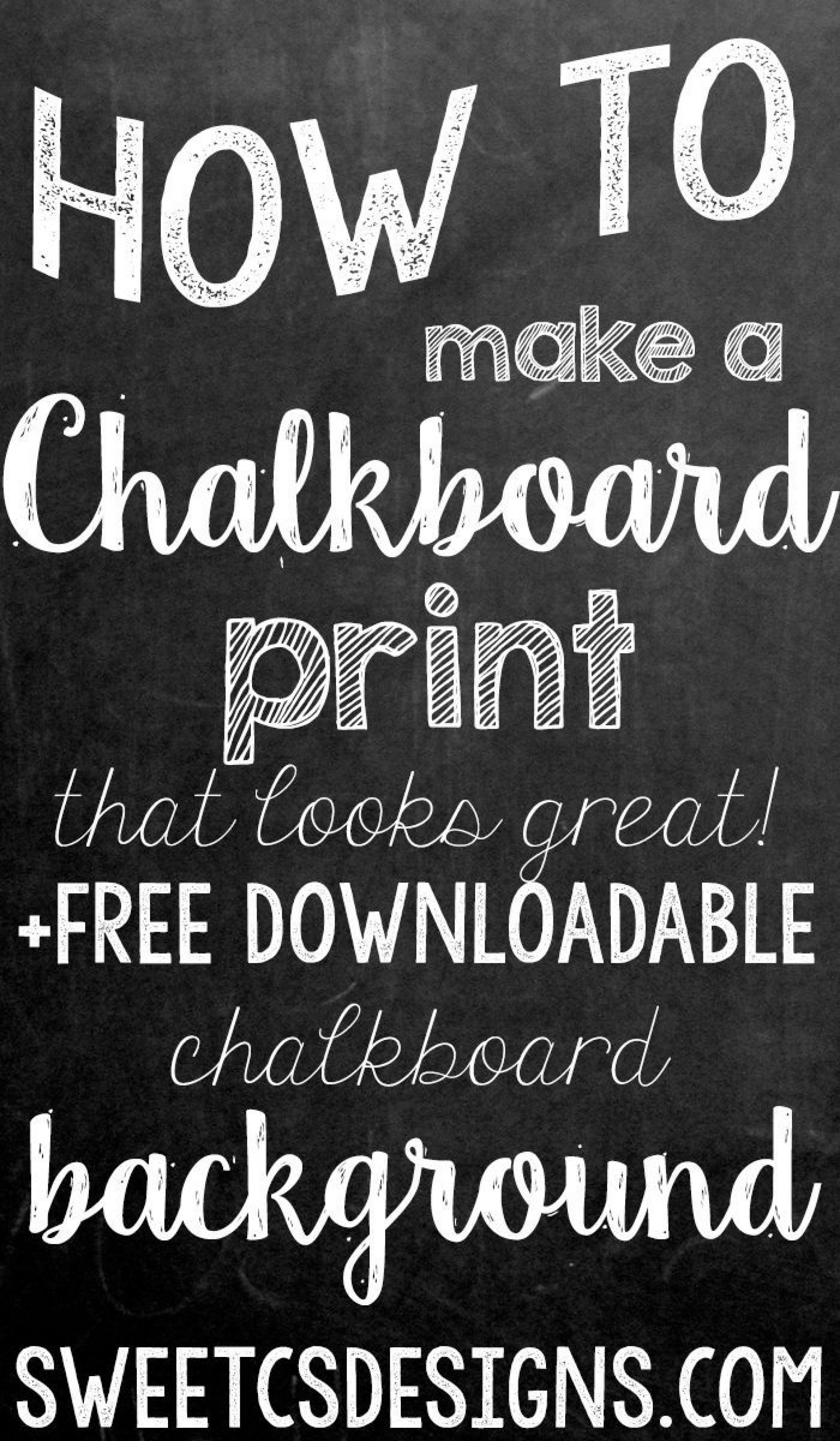 000 Beautiful Chalkboard Template Microsoft Word Example  Editable Menu1920