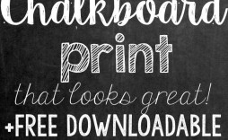 000 Beautiful Chalkboard Template Microsoft Word Example  Editable Menu