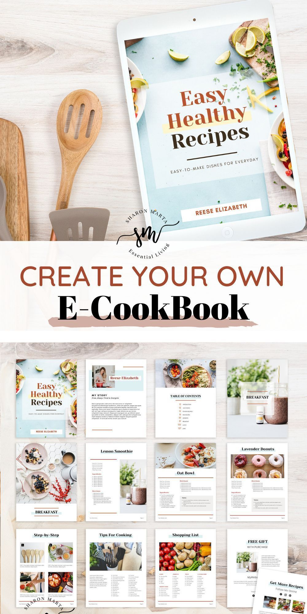 000 Beautiful Create Your Own Cookbook Template Concept  FreeFull