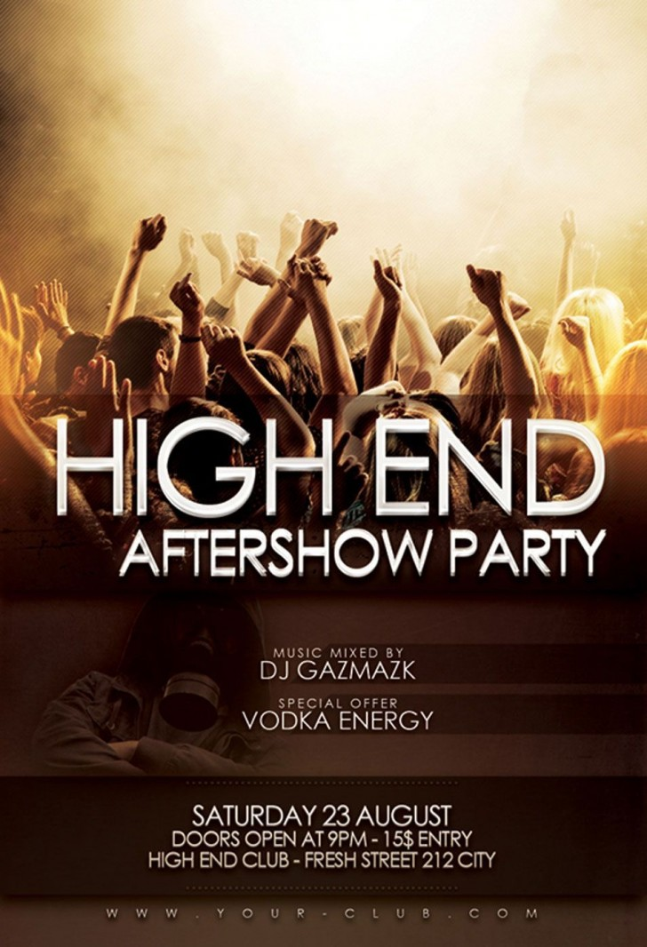 000 Beautiful Free Party Flyer Template For Photoshop Highest Clarity  Pool Psd Download728