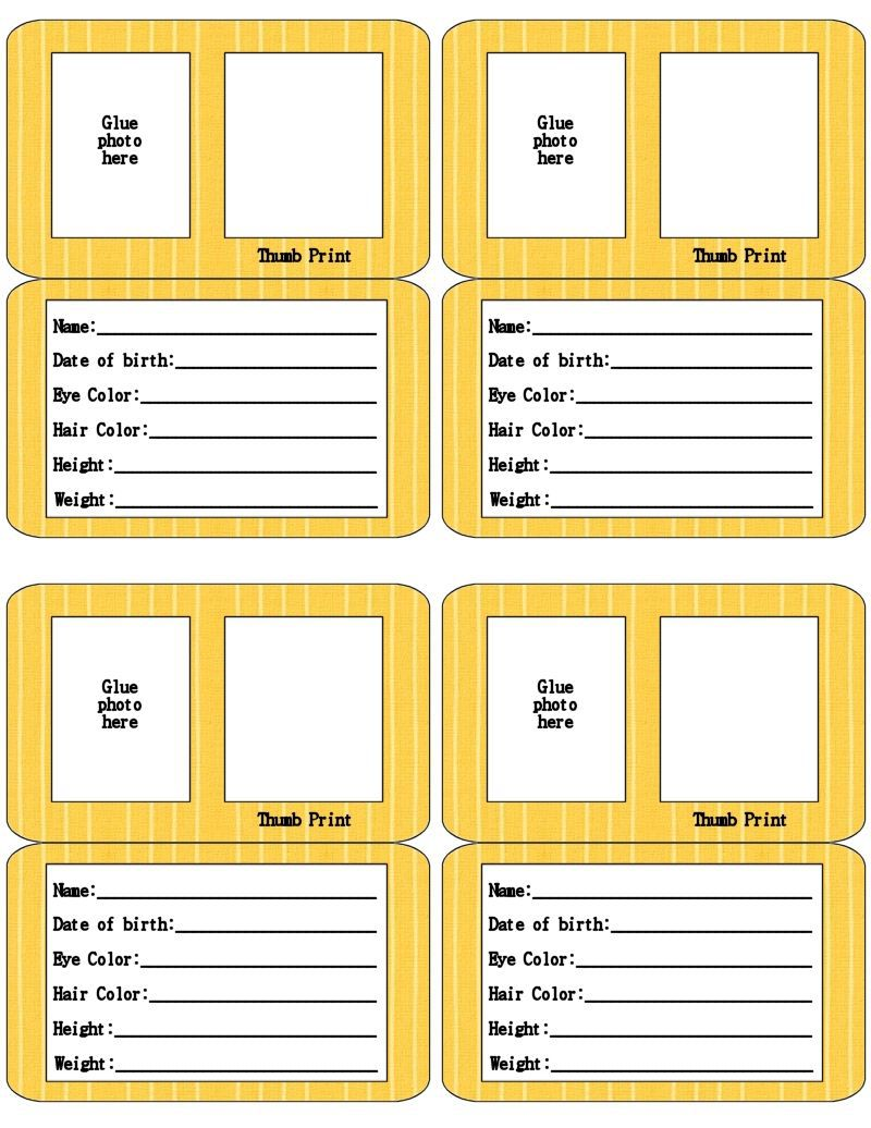 000 Beautiful Free Printable Id Card Template Highest Quality  Templates Medical EditableFull
