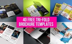 000 Beautiful Free Tri Fold Brochure Template Sample  Photoshop Illustrator Microsoft Word 2010