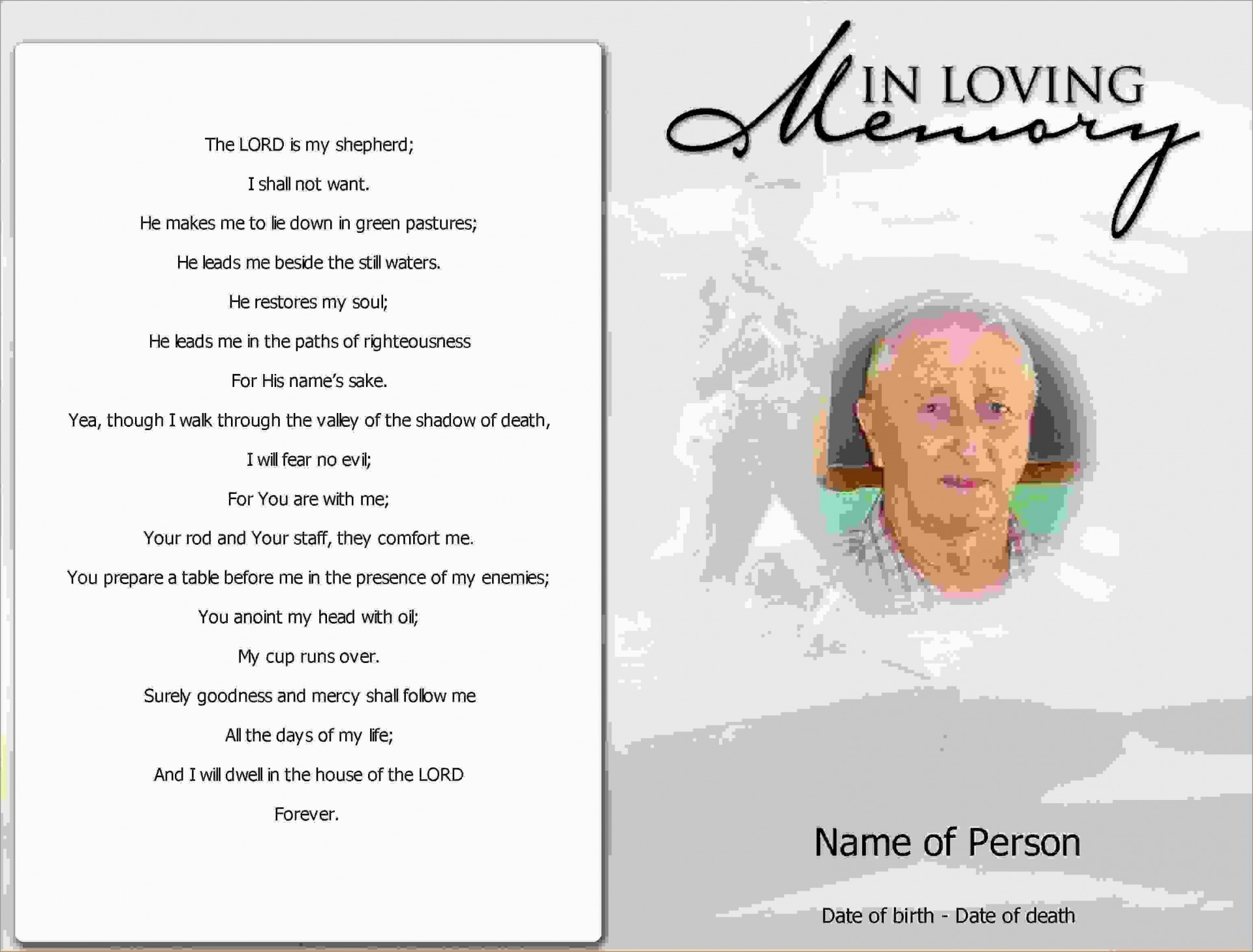 000 Beautiful Funeral Invitation Template Free Highest Clarity  Memorial Service Card Reception1920