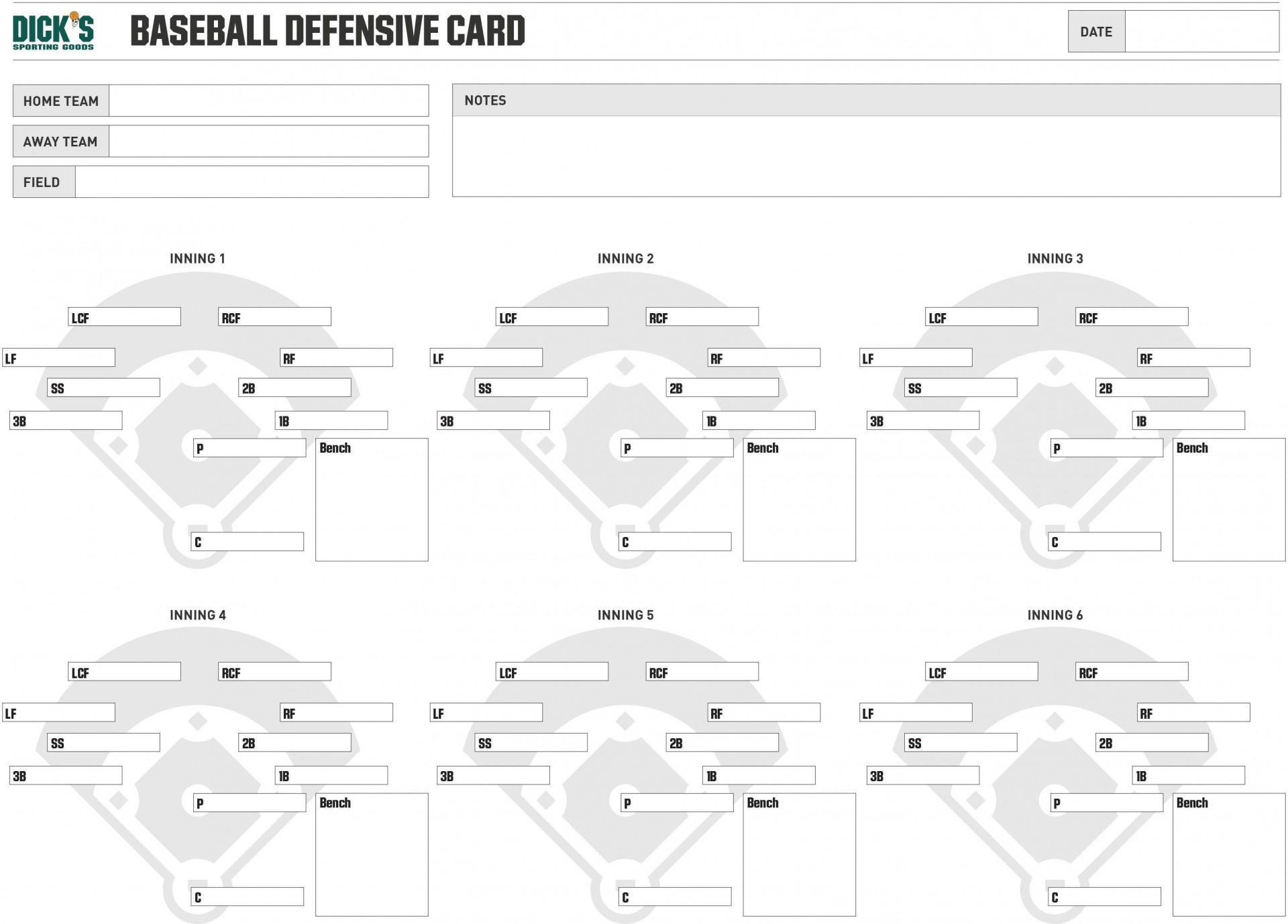 000 Beautiful Little League Lineup Card Template Photo  Baseball1920