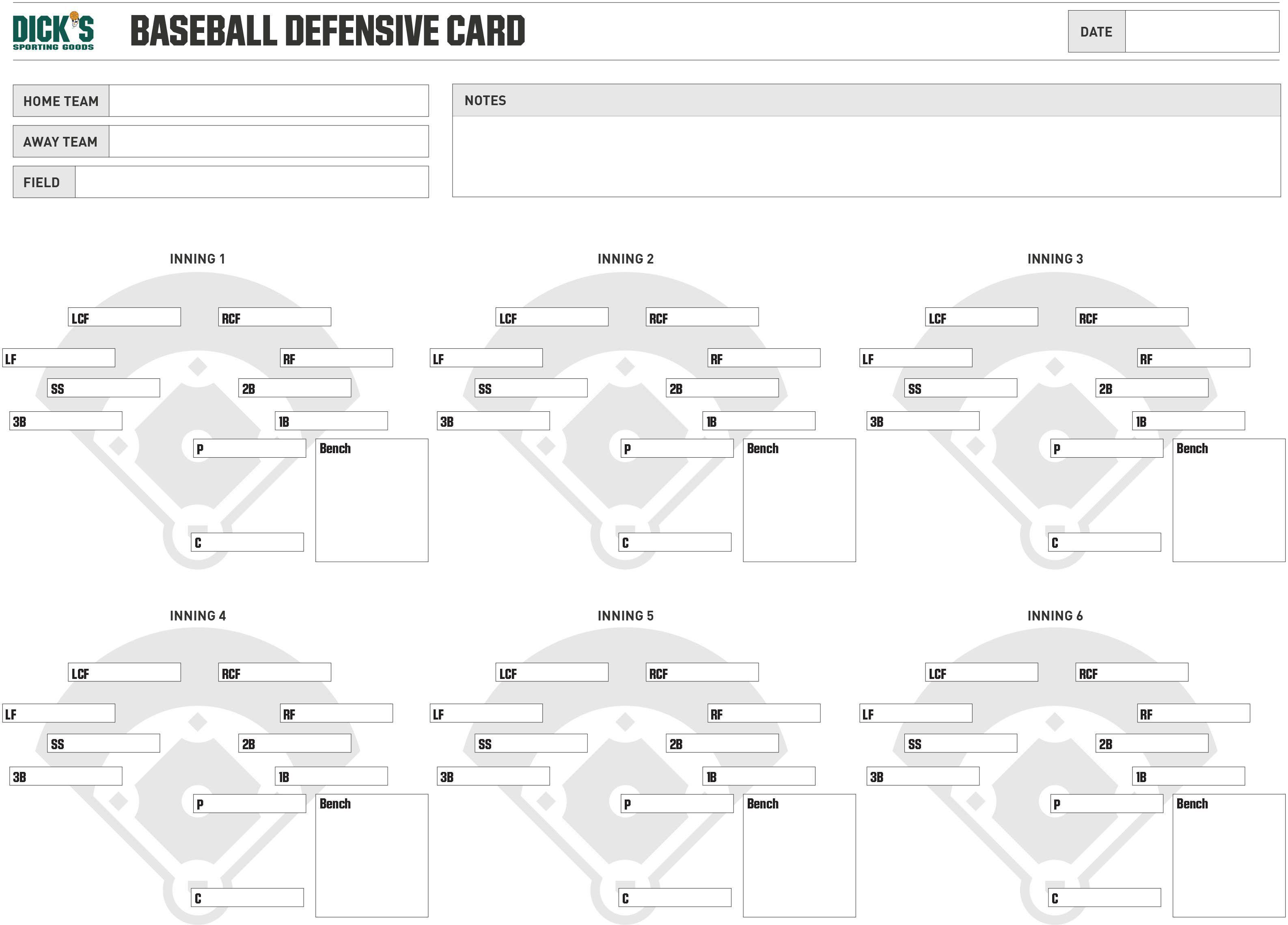 000 Beautiful Little League Lineup Card Template Photo  BaseballFull