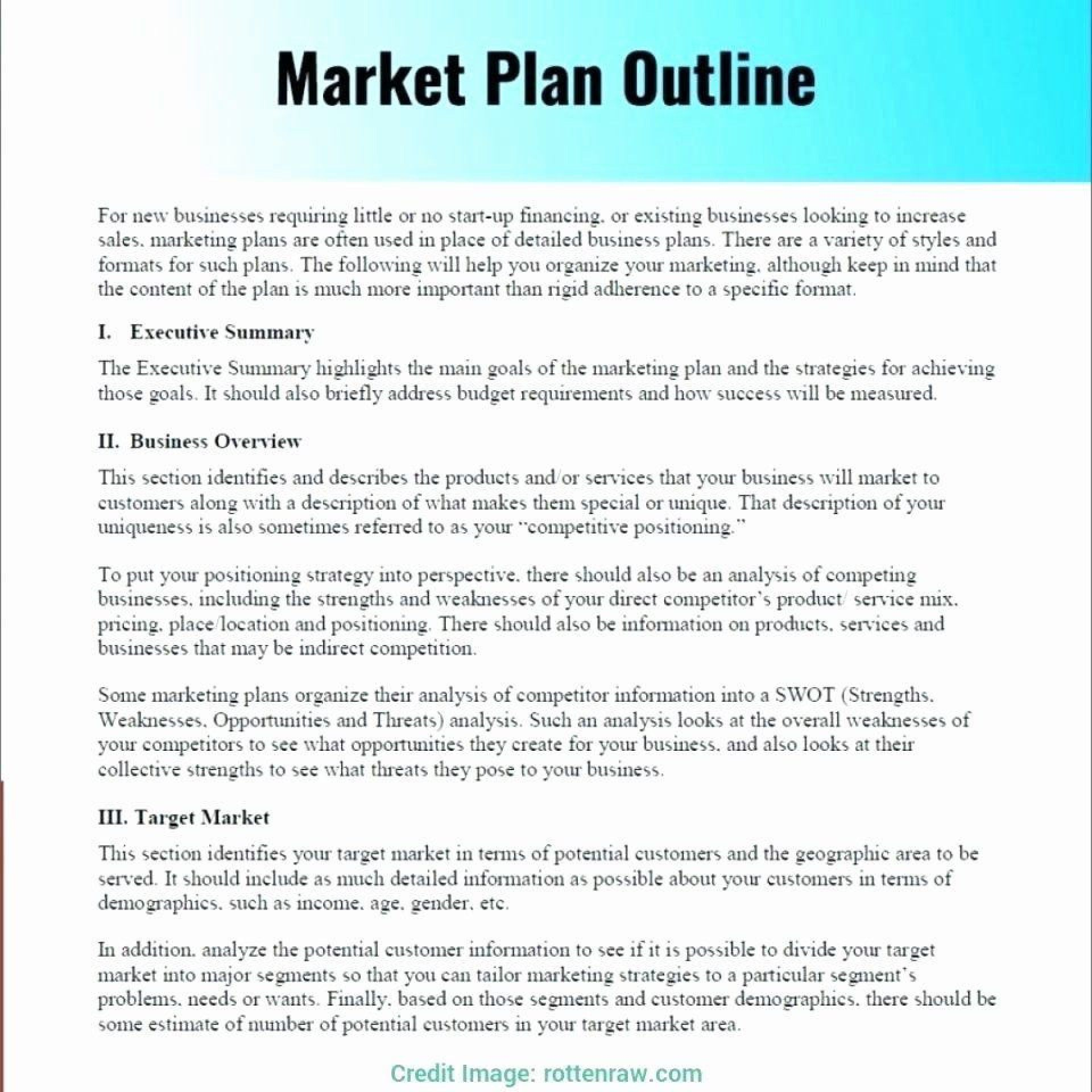 000 Beautiful Marketing Busines Plan Format Photo  Template For Small FreeFull