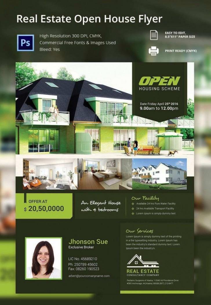 000 Beautiful Open House Flyer Template High Def  Word Free School Microsoft728