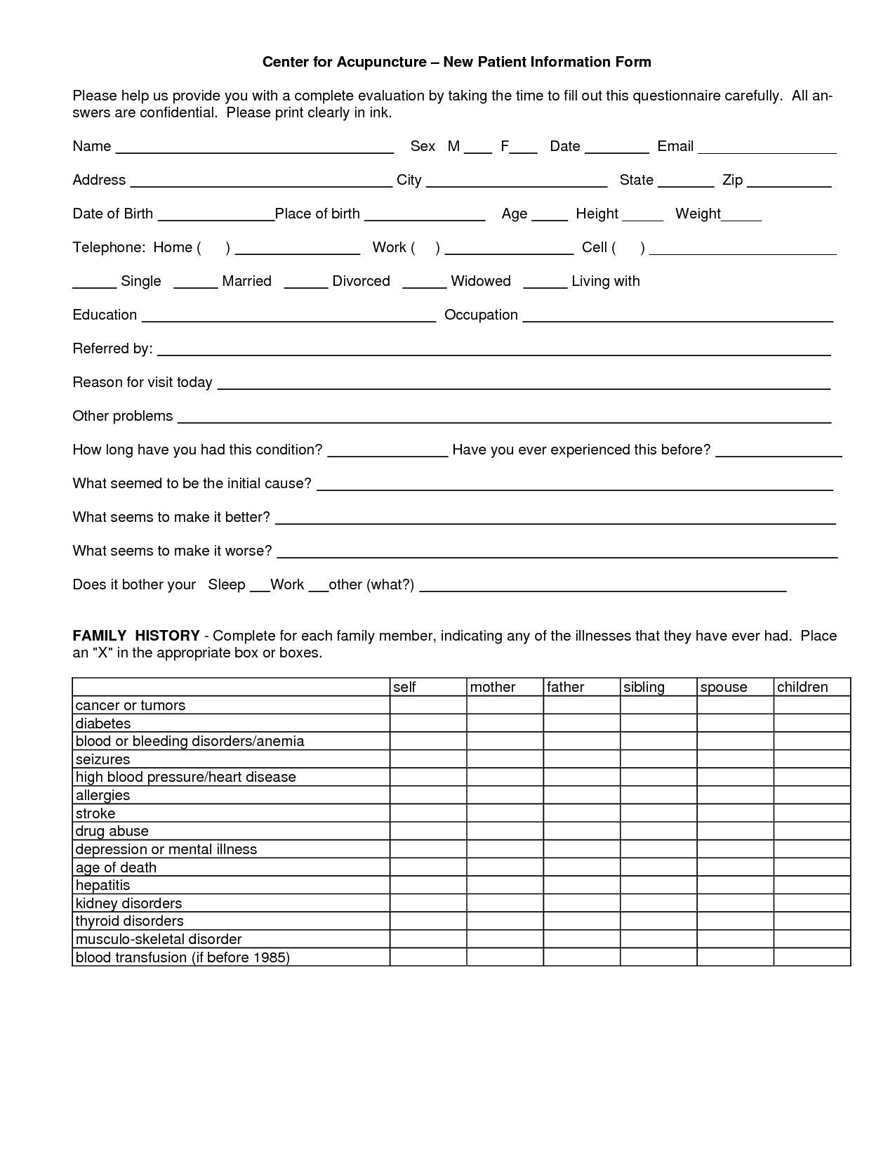 000 Beautiful Patient Intake Form Template High Resolution  Word Client Excel PdfFull