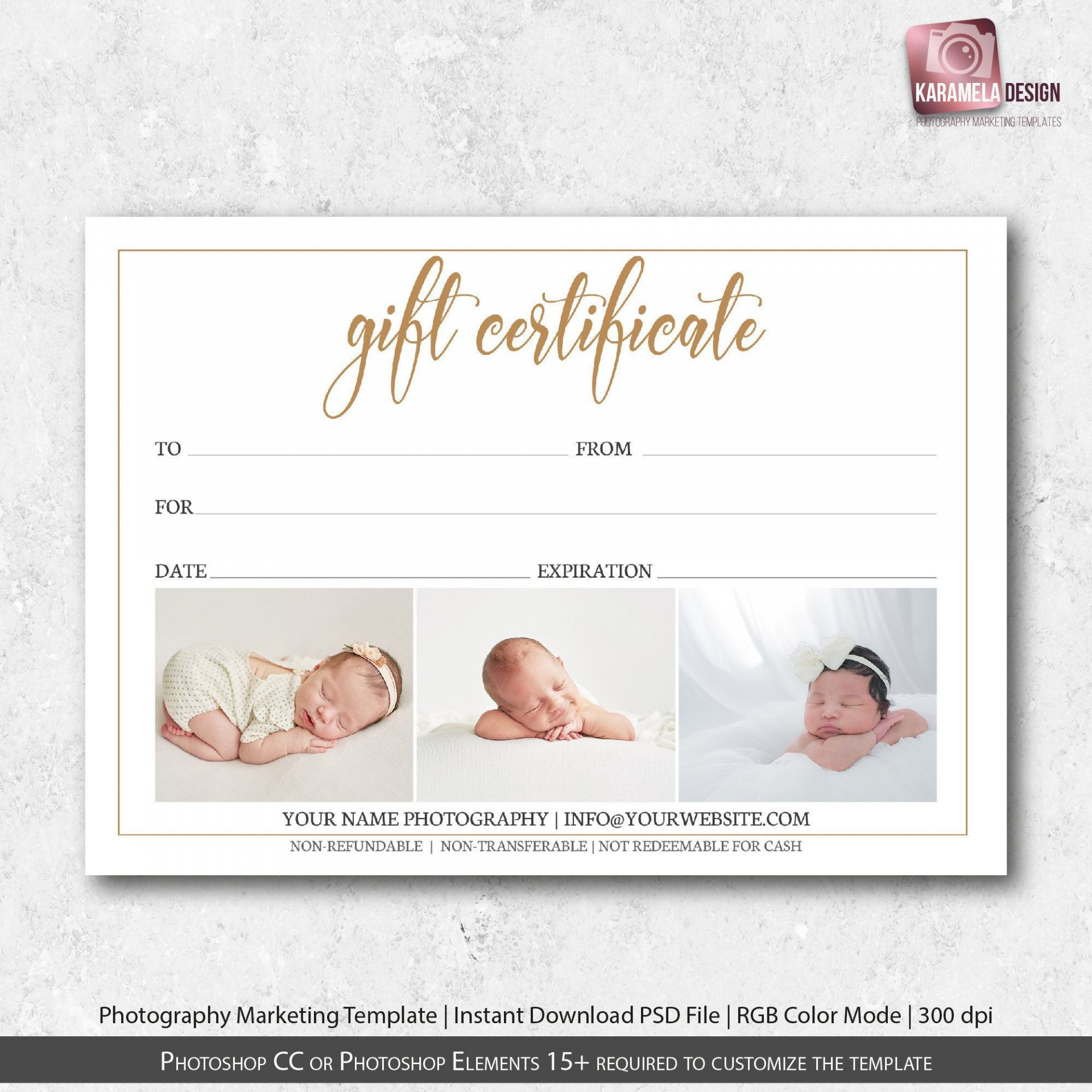 000 Beautiful Photography Gift Certificate Template Photoshop Free Photo 1920