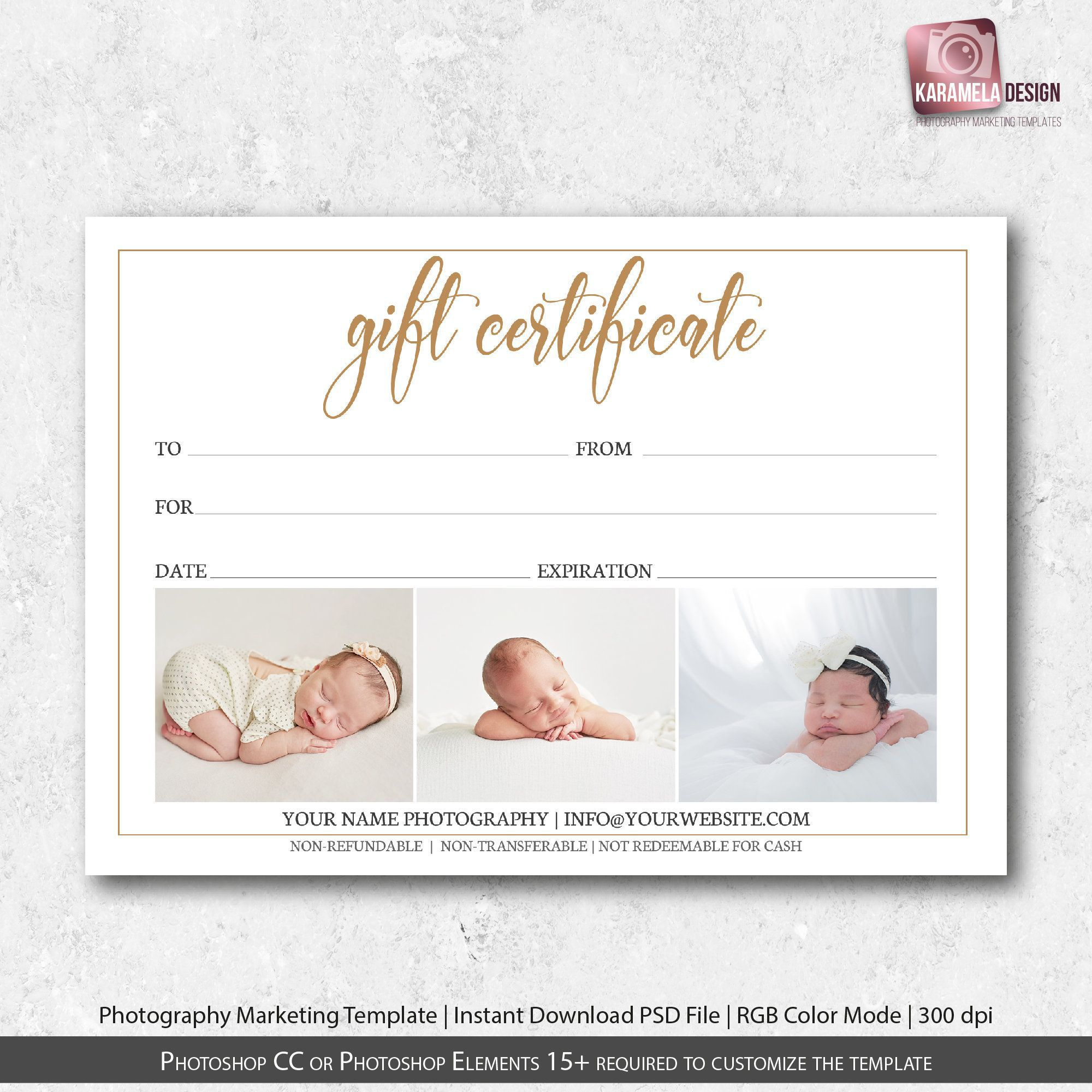 000 Beautiful Photography Gift Certificate Template Photoshop Free Photo Full