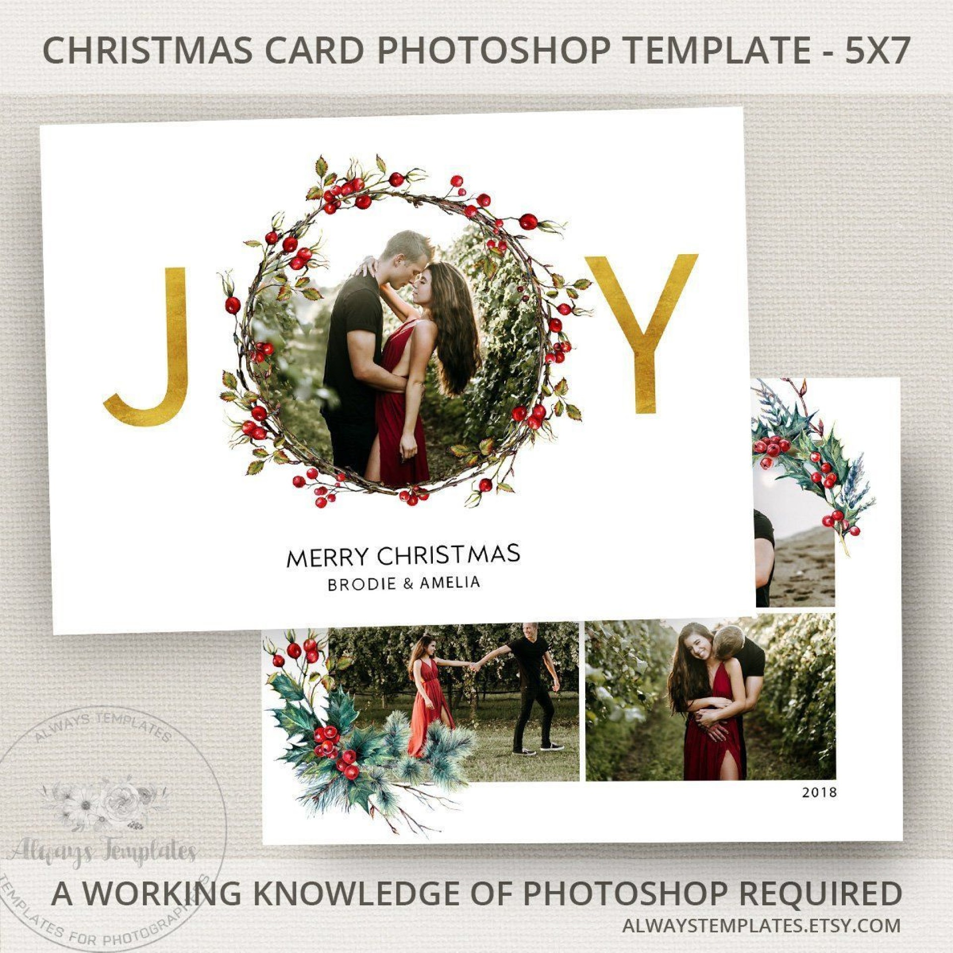 000 Beautiful Photoshop Christma Card Template Idea  Templates Xma Funny1920