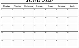000 Beautiful Printable Calendar Template June 2020 High Definition  Free