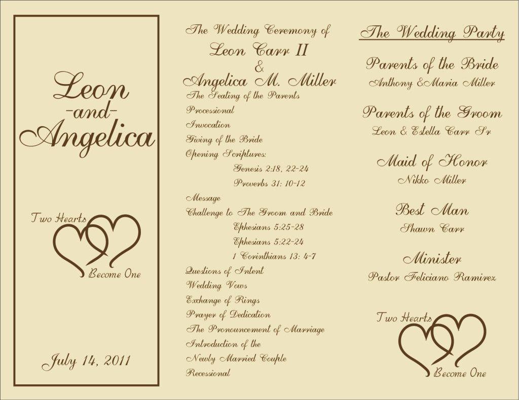 000 Beautiful Trifold Wedding Program Template Idea  Templates Tri Fold Tri-fold Publisher Free FoldableFull