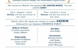 000 Beautiful Wedding Program Template Free Sample  Fan Download Elegant