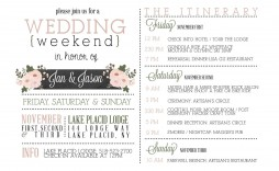000 Beautiful Wedding Weekend Itinerary Template High Def  Day Word Reception Timeline Excel
