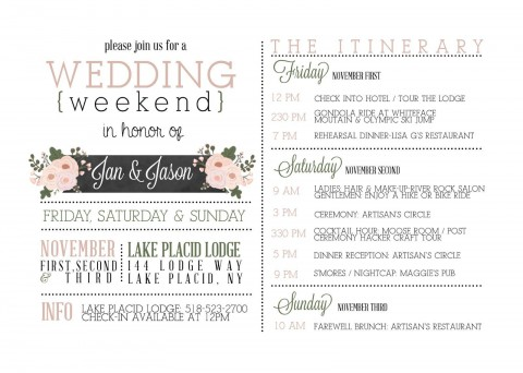 000 Beautiful Wedding Weekend Itinerary Template High Def  Day Timeline Word Sample480
