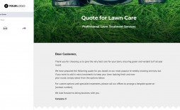 000 Best Commercial Lawn Care Bid Template High Resolution