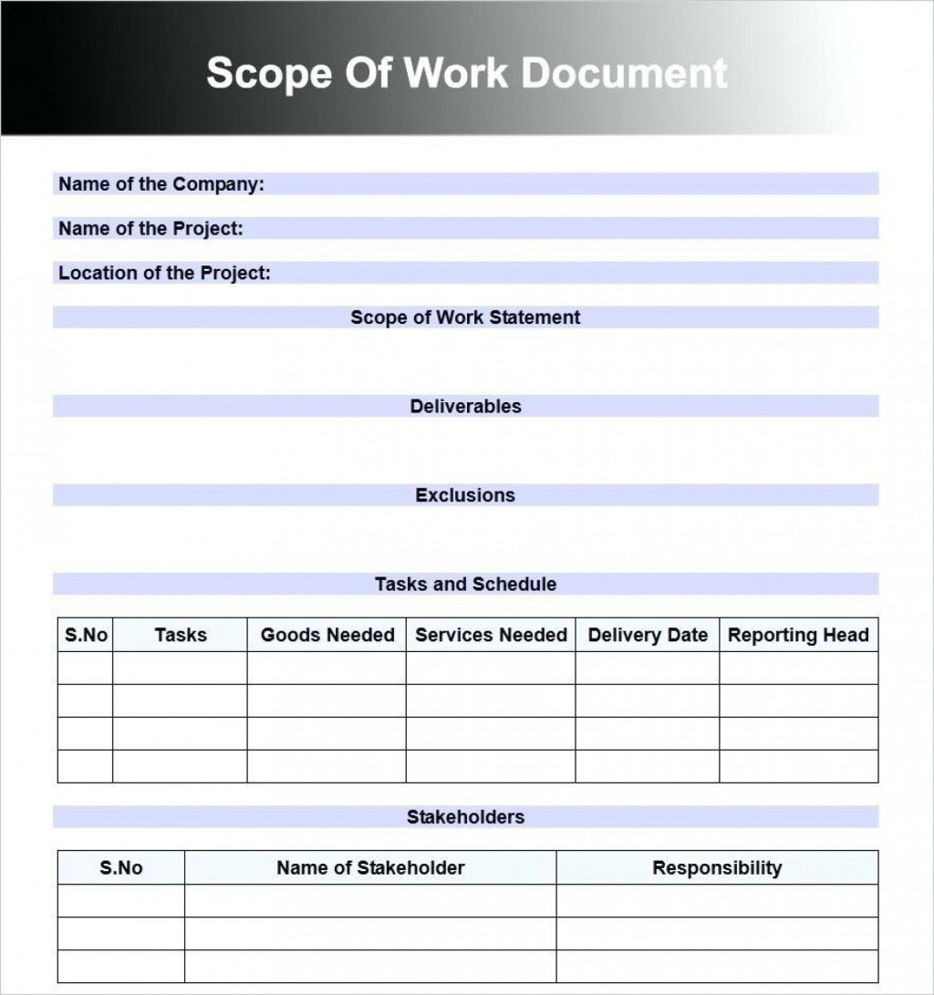 000 Best Construction Scope Of Work Template Word Highest Clarity Large