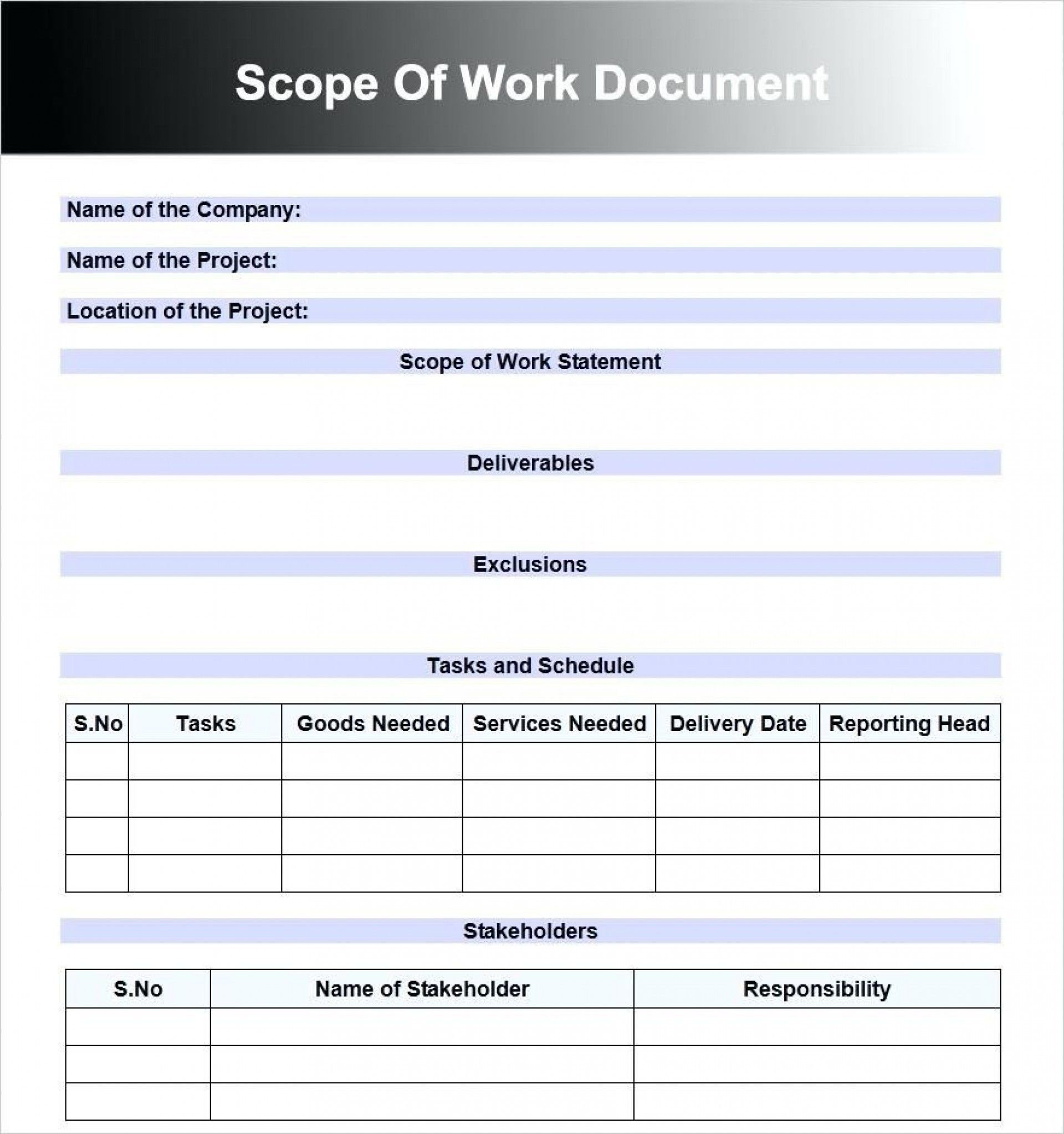 000 Best Construction Scope Of Work Template Word Highest Clarity Full