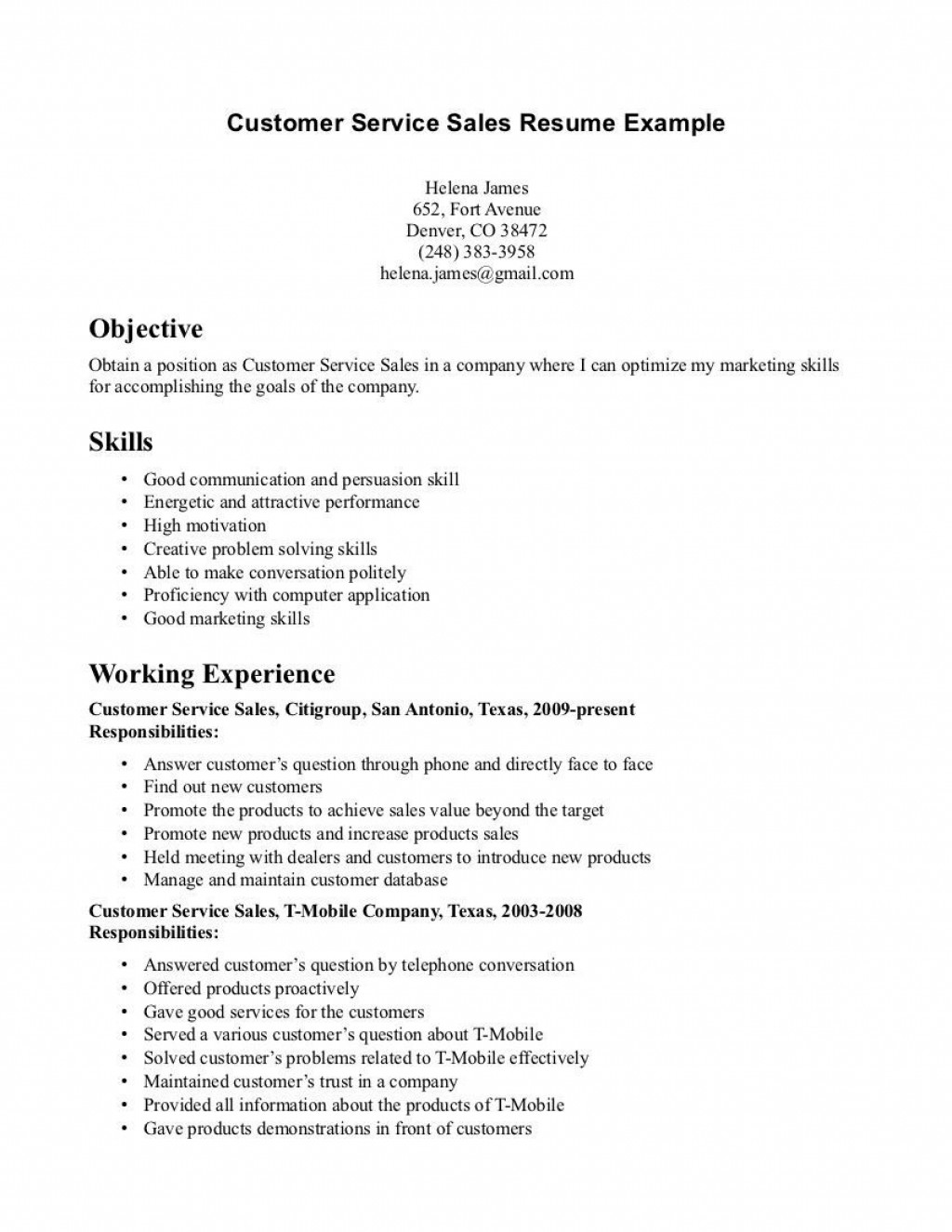 000 Best Customer Service Resume Template Photo  CvLarge