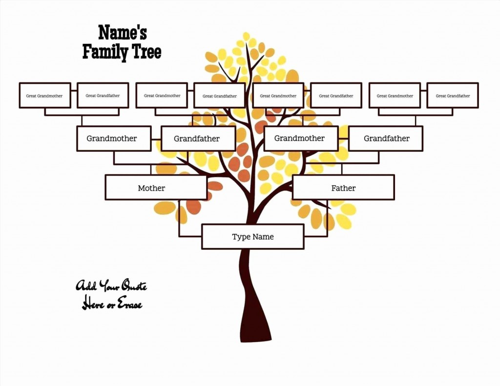 000 Best Free Editable Family Tree Template Concept  With Sibling Powerpoint For MacLarge